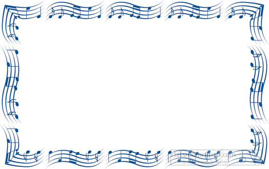 Borders musical notes classroom. Border clipart music