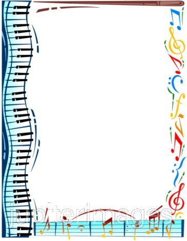 Free borders clip art. Border clipart music