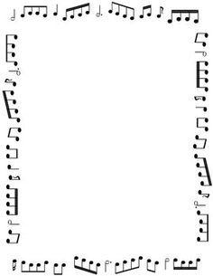Border clipart music. Symbols borders kid piano