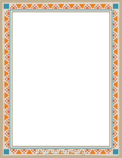 Calendar clipart border. Printable native american free