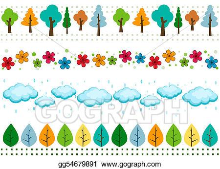 Borders clipart nature. Stock illustrations gg gograph