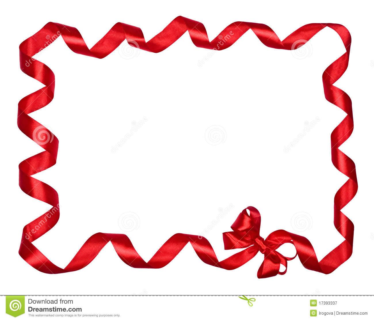 Ribbon . Bow clipart border
