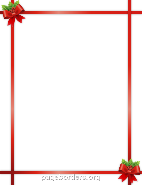 Borders clipart ribbon. Christmas border clip art