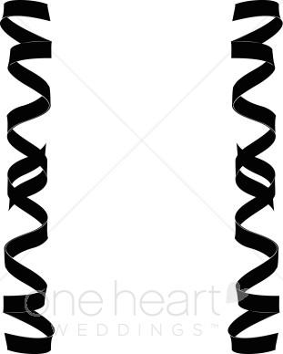 Border of curling. Borders clipart ribbon