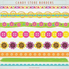 Borders clipart scrapbook. Glitter ric rac wavy