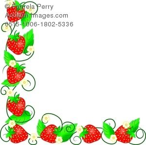 Strawberries clipart frame. Clip art image of