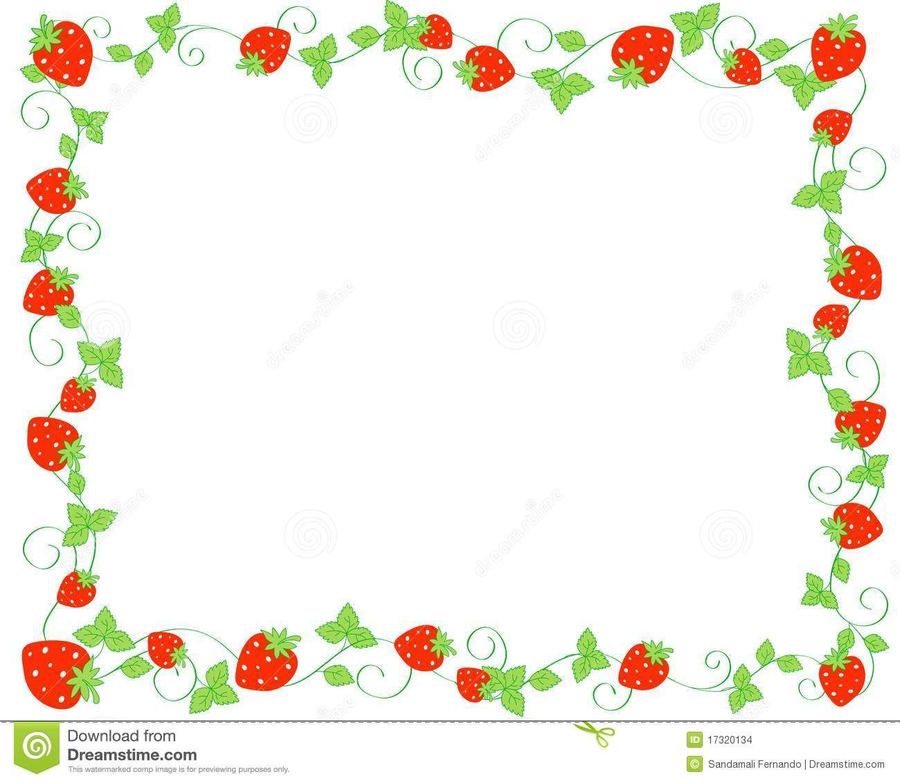 Strawberries clipart borders. Strawberry images clip art