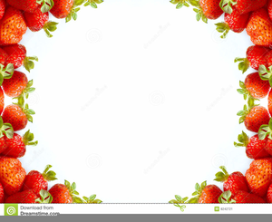 Strawberry border free images. Strawberries clipart borders