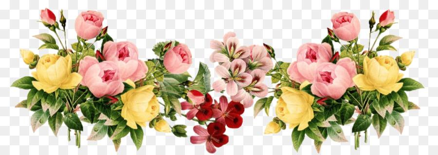 Border clipart vintage flower. Flowers clip art cliparts