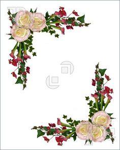 Border clipart vintage flower. Rose free