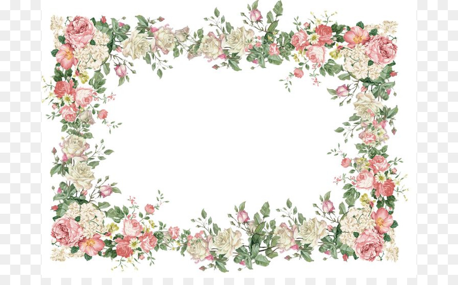 Borders and frames picture. Border clipart vintage flower