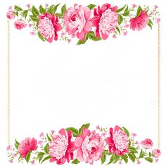 Flowers clip art borders. Border clipart vintage flower