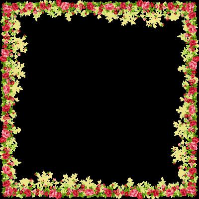 Border design png. Download flowers borders free