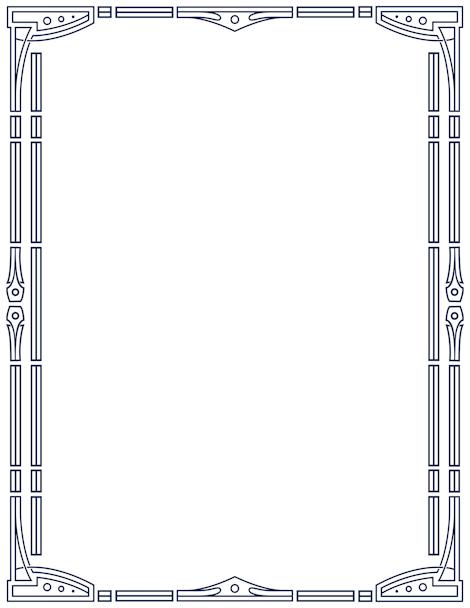 Printable border free gif. Borders clipart art deco
