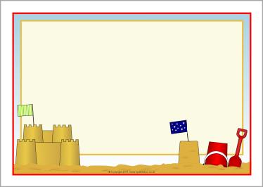 Borders clipart castle. Sandcastle a page sb