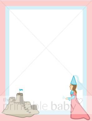 Borders clipart castle. Sand and princess border