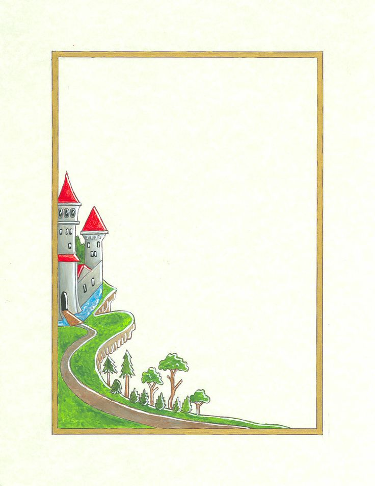 Clipart castle borders.  best and frames