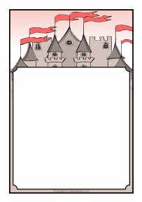 Castles themed a page. Borders clipart castle