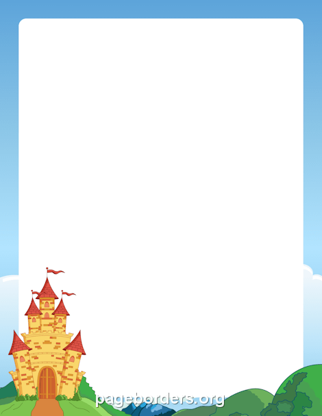 Borders clipart castle. Border page for paper