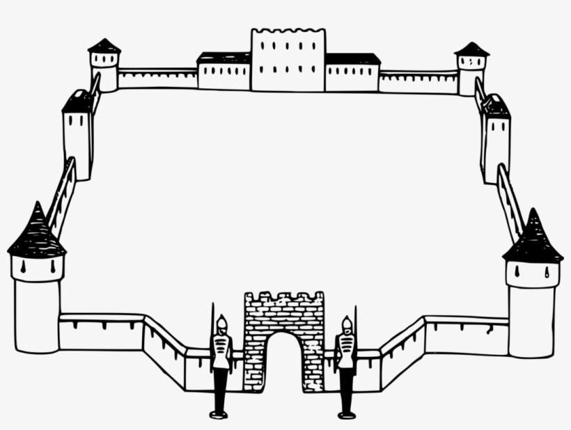 And frames bridge picture. Borders clipart castle