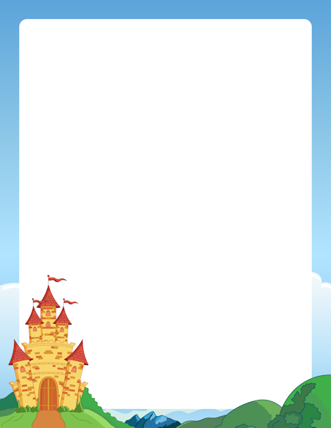 Printable free gif jpg. Palace clipart castle border