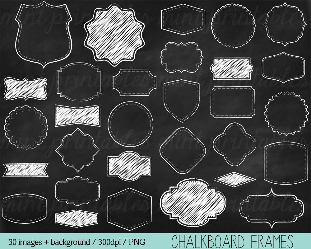 Chalk clipart chalkboard. Frames clip art borders