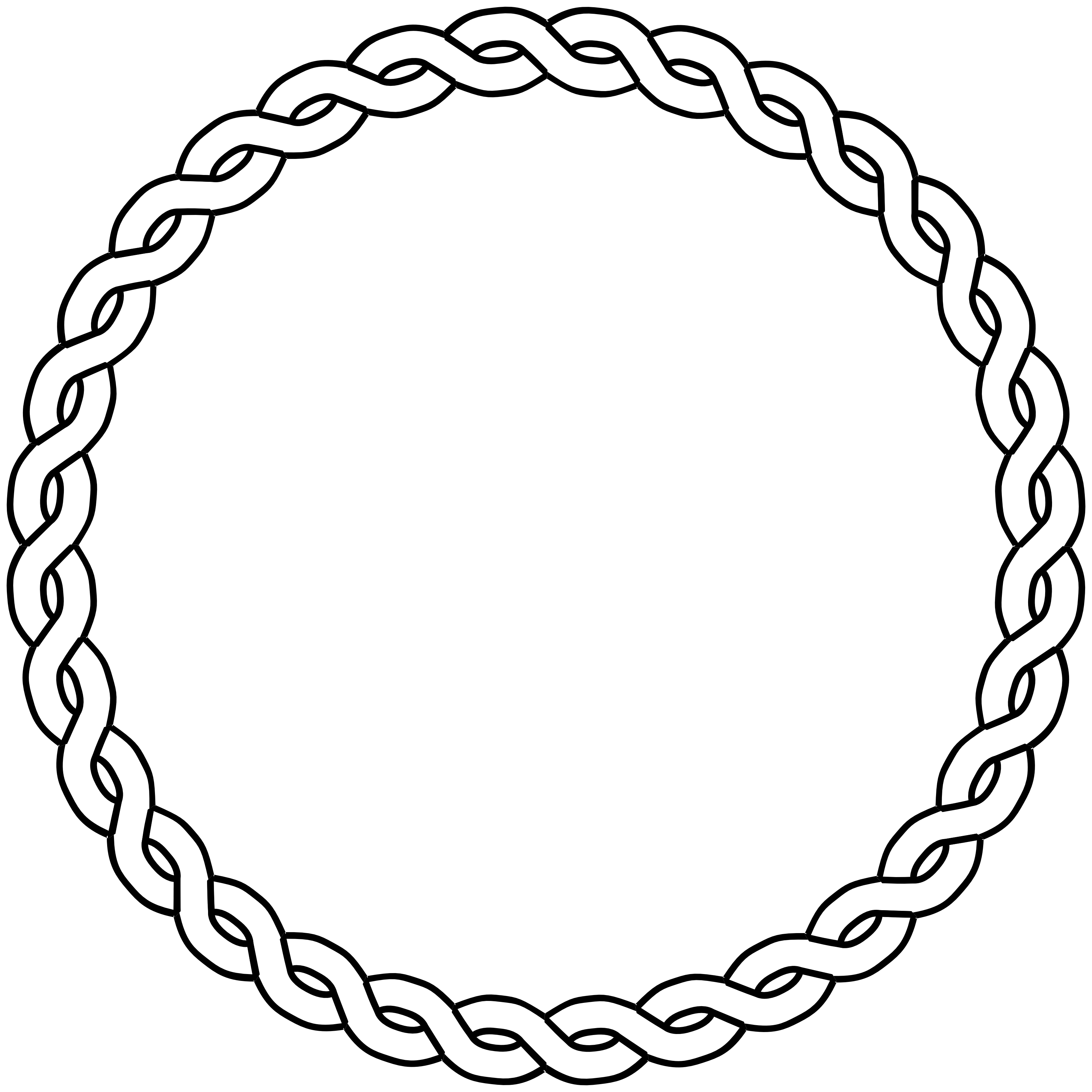 Clipart anchor circle. Rope border black white