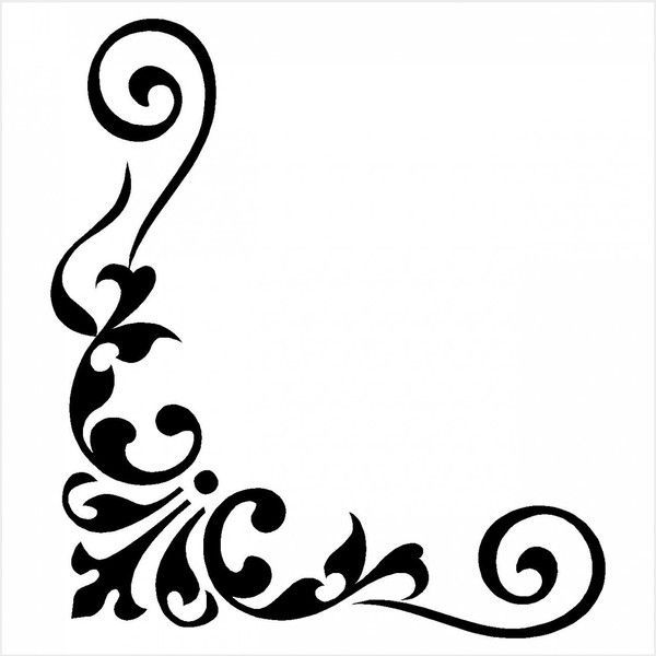 Corner clipart stencil. Borders colouring pages page