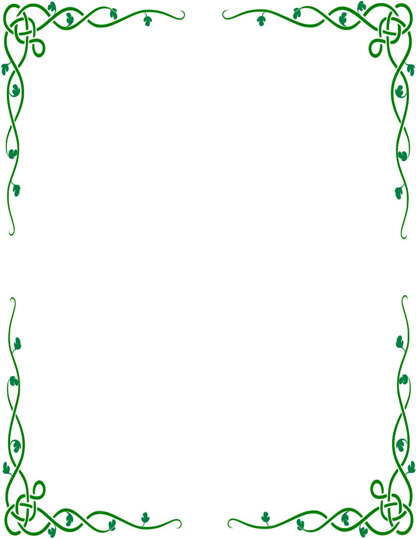 Borders clipart easy. Irish clip art celtic