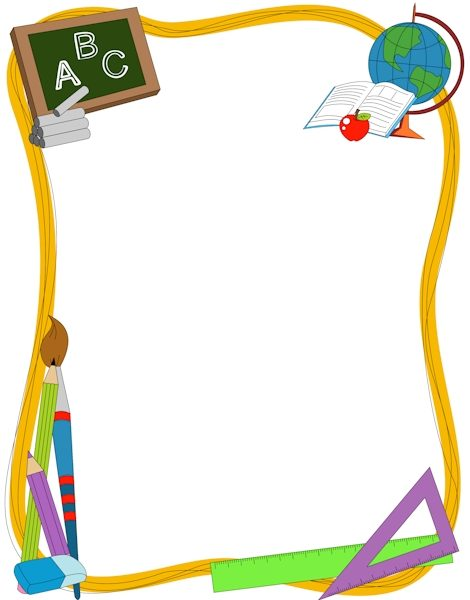 Pin by muse printables. Borders clipart elementary school