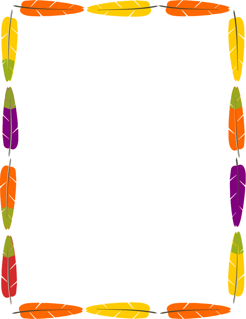 Borders clipart feather. Frame marcs pinterest feathers