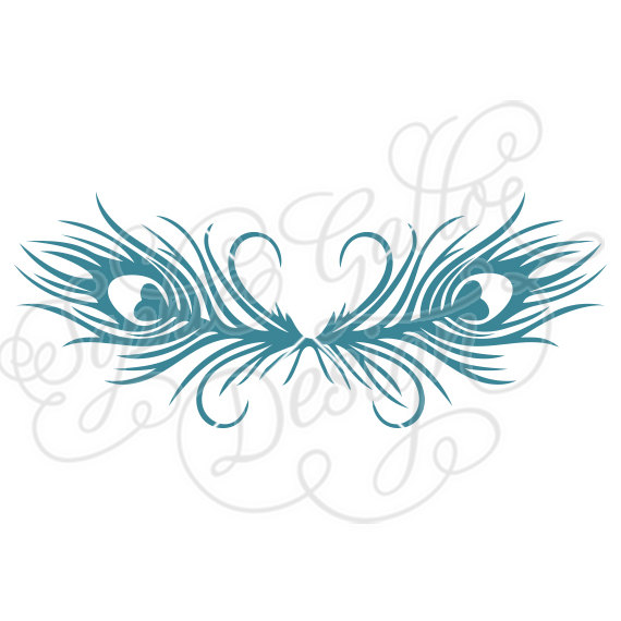 Borders clipart feather. Peacock border svg dxf