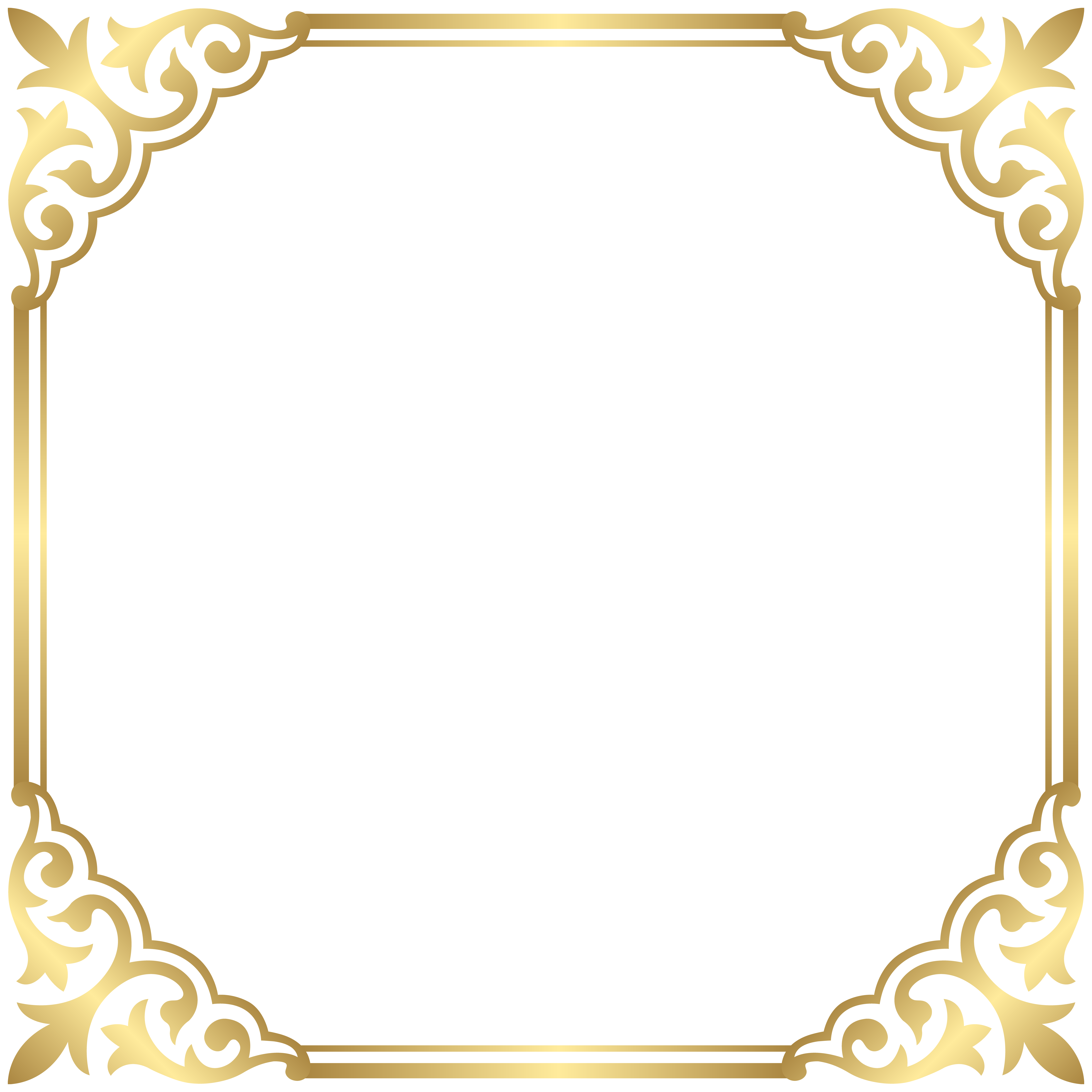 Victorian border frame png. Gold clipart lovely clip