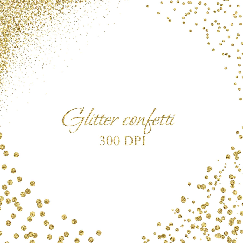 Confetti clipart corner. Glitter overlay gold dust