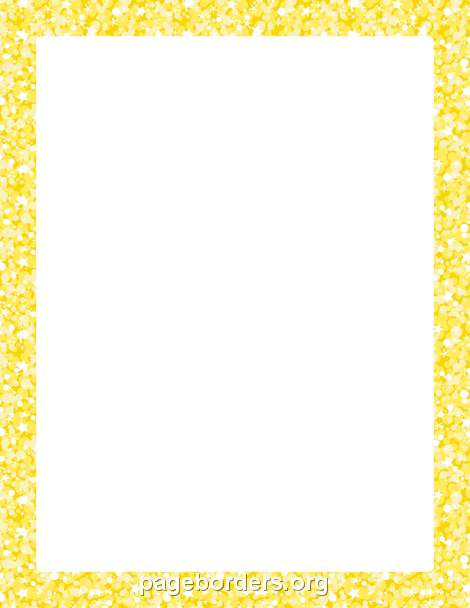 Border clipart glitter. Yellow clip art page