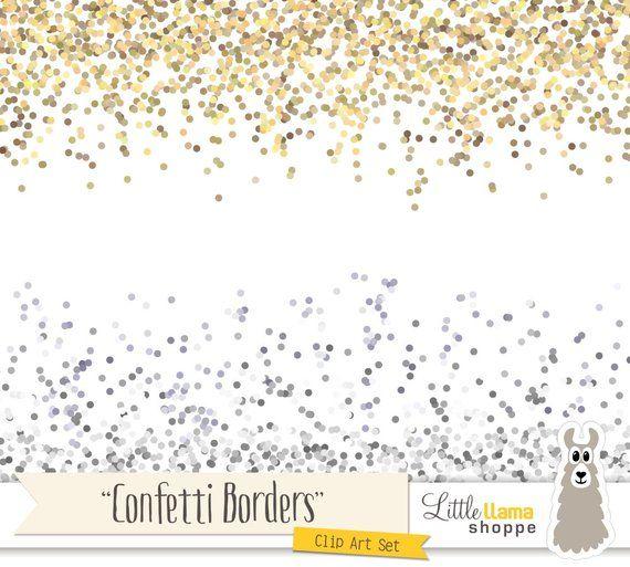 Confetti border clip art. Borders clipart glitter