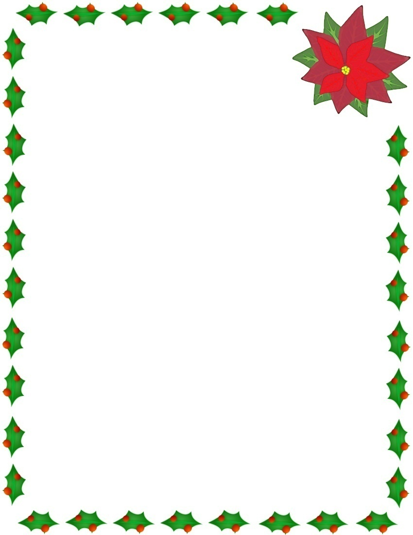 Poinsettias clipart banner. Free holiday borders cliparts