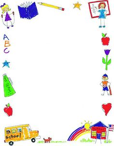 Borders clipart kindergarten. Border scrapbook
