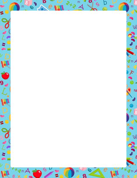 Borders clipart kindergarten. Printable border free gif