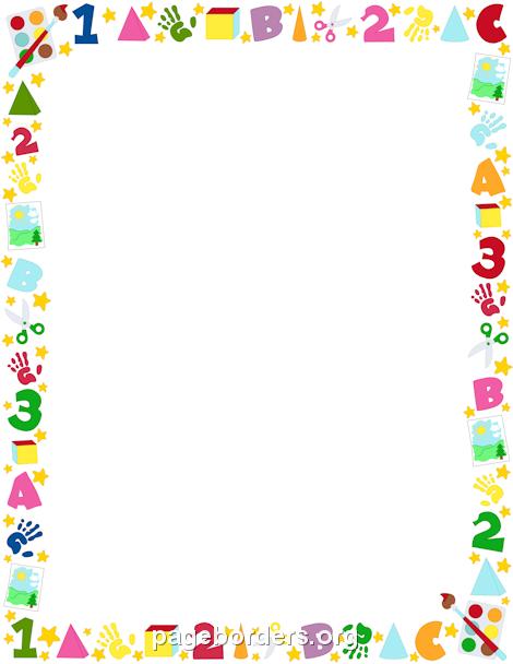 Borders clipart kindergarten. Printable preschool border free