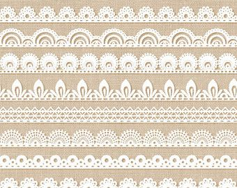 Border pack with digital. Borders clipart lace