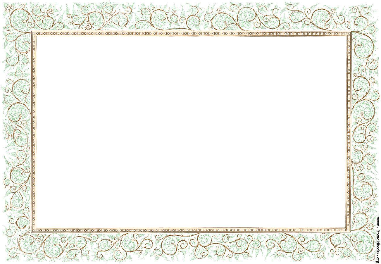 Flower and lace clip. Clipart border landscape