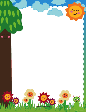 Cute for microsoft word. Borders clipart nature