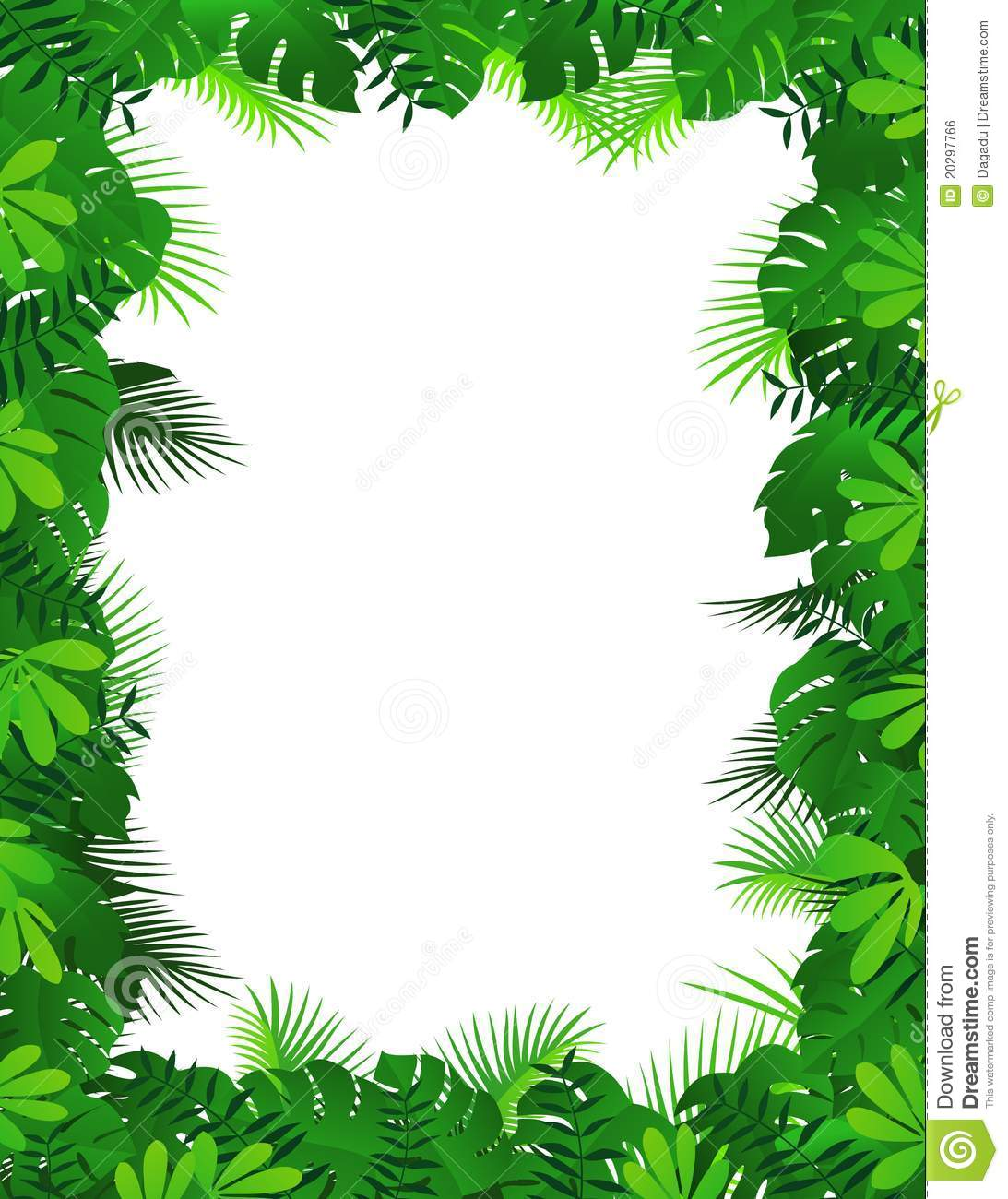 Forest border . Borders clipart nature