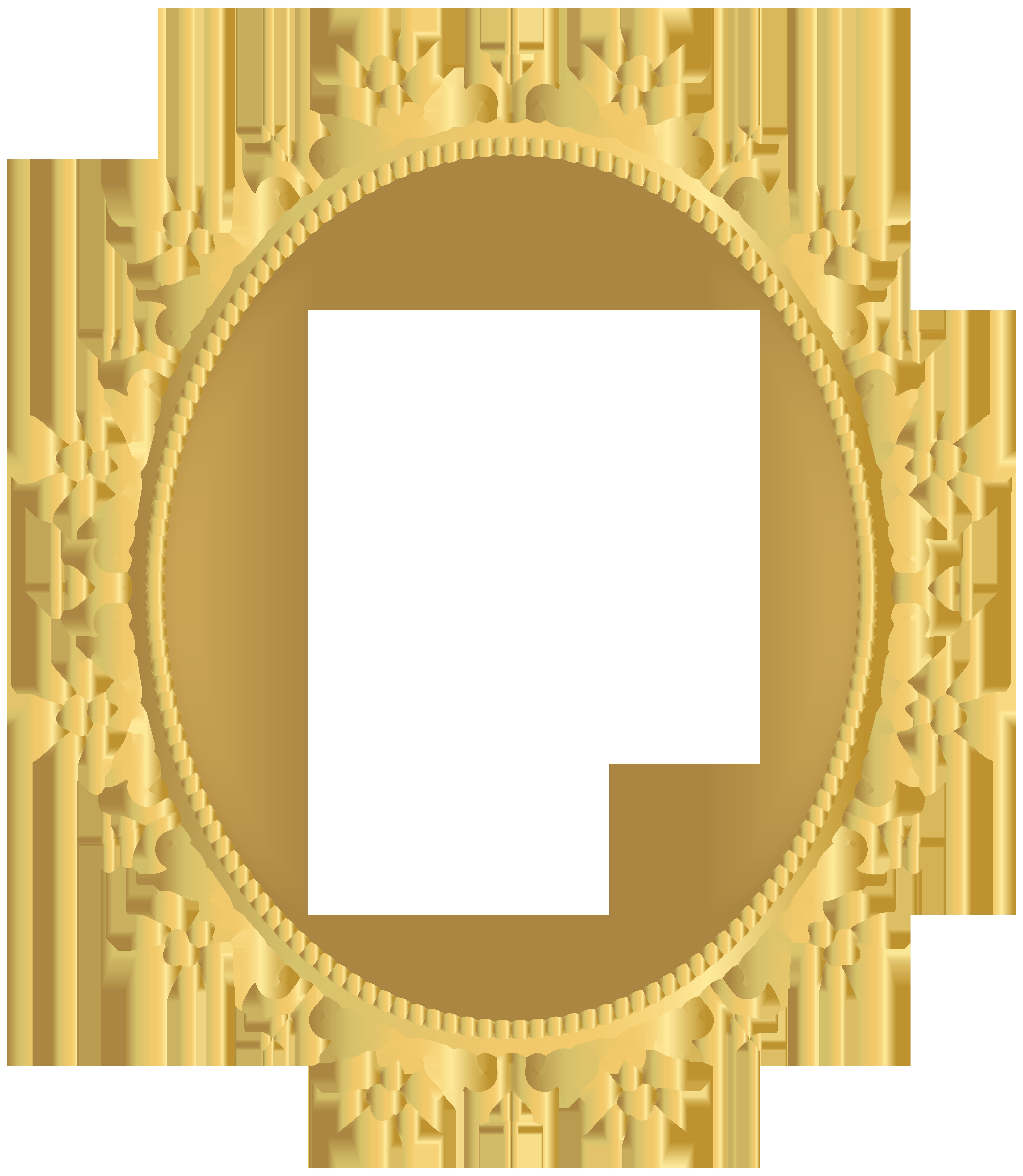 Decorative border transparent clip. Oval frame png