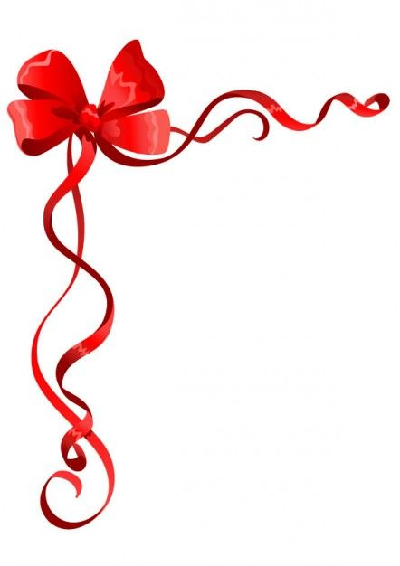 Bow clipart border. Red and ribbon frames