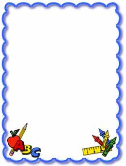 Clip art frames image. Borders clipart school