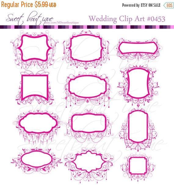 off sale wedding. Borders clipart scrapbook