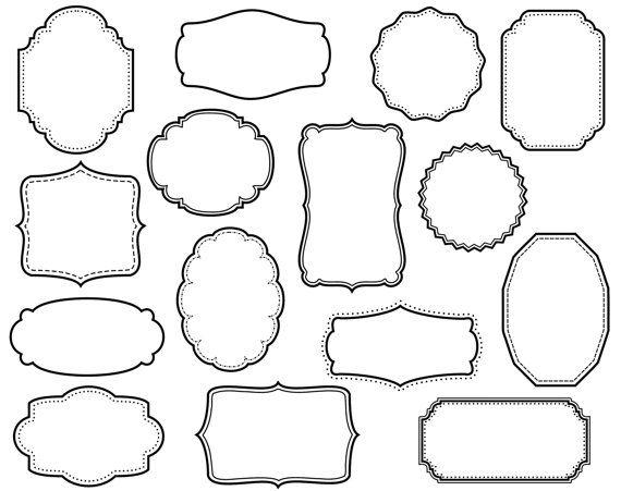 Borders clipart scrapbook. Clip art digital frames