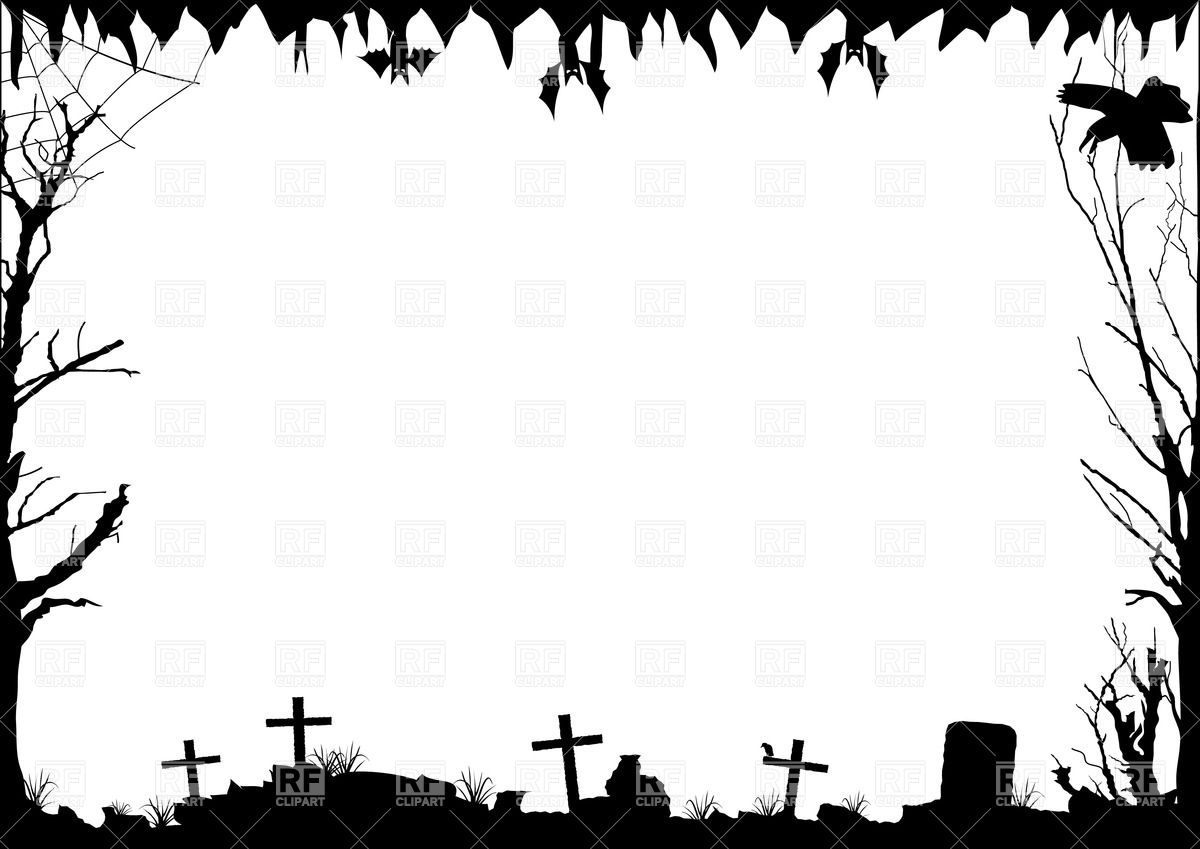 Silhouette at getdrawings com. Headstone clipart border
